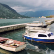 Boats in Kotor Bay, Montenegro — Stock Photo