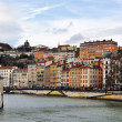 Aerial view of Lyon, France — Stock Photo