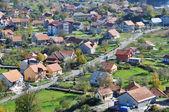 Luchtfoto van cetinje, montenegro — Stockfoto