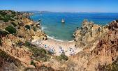 Camilo pláž v algrave, portugalsko — Stock fotografie