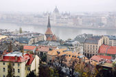 Aerial view of Budapest — Stock Photo