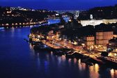 Aerial night view of Porto — Stock Photo