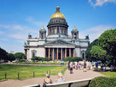 St Isaac Cathedral in Saint Petersburg — Stock Photo