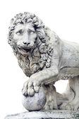 Izole Floransa'da bulunan aslan figürü — Stok fotoğraf