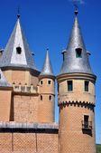 Towers of Alcazar of Segovia, Spain — Stock Photo
