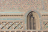 Decorated wall of an old Church in Malaga, Spain — Stock Photo