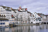 Old buildings in the city center of Zurich — Foto Stock