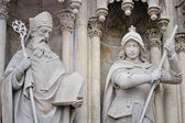 Religious figures of Zagreb Cathedral — Stock Photo