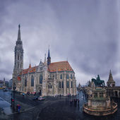 Aerial view of Matthias Church in Budapest — Stockfoto