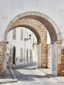 Streets of old town Faro in Algarve — Стоковое фото