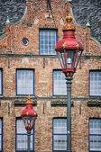 Dusseldorf, Germany. Street lamps — Stock Photo
