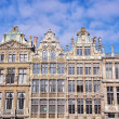 Facades of old buildings in Brussels — Stock Photo