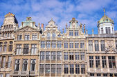 Facades of old buildings in Brussels — Foto de Stock