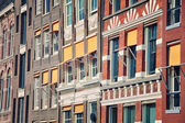 Close view of Old building facades in Amsterdam — Foto de Stock
