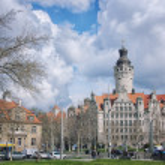 Leipzig city center, Germany — Stock Photo #48034317