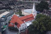 Old white St Anthony church in Kuala Lumpur — Stock Photo