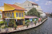 Old colorful houses in Melaka — Stock Photo