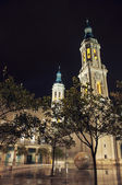 Cathedral of Our Lady of Pillar in Saragossa — Stock Photo