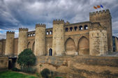 Aljaferia Palace in Saragossa, Aragon province, Spain — Stock Photo