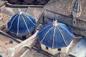 Aerial view domes of Cathedral in Valencia — Stock Photo