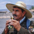 Mexican people in Teotihuacan — Stock Photo #50980139