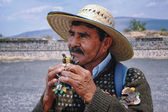 Mexican people in Teotihuacan — Stock Photo