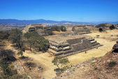 Aerial view of Monte Alban Ruins — Stock Photo