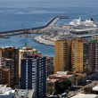 Aerial view of Malaga Port — Stock Photo #9236065