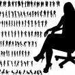 Very many high quality business silhouettes — Stock Vector