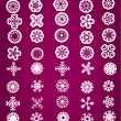 Stock Vector: Snowflake set vector illustration