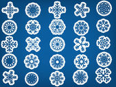 Snowflake set vector illustration — Stock Vector