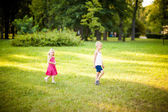 Little children in a park — Stock Photo