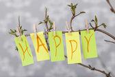 幸せなキャプション — ストック写真