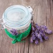Natural lavender and coconut body scrub — ストック写真