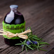 Stock Photo: Natural rosemary and wine hair toner diy