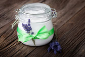 Natural lavender and coconut body butter DIY — Stock Photo