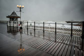 Dramatic view from Brighton pier — Stock Photo
