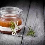 Natural diy ginger sugar and salt body scrub — Stock Photo #43422713