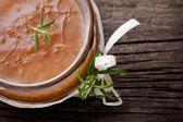 Natural diy ginger sugar and salt body scrub — Stock Photo