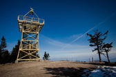 Barania Gora Tower - beautiful beskid mountain photo — Stock Photo