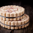 Diy homemade cork protector from hot pots — Stock Photo #45262751