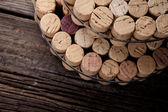 Diy homemade cork protector from hot pots — Stock Photo