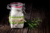 Natural diy crystal bath salt — Stock Photo