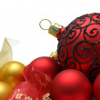 Baubles Border — Stockfoto