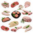 Raw Meat Sampler - Stock Photo