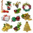 Christmas Objects Sampler — 图库照片