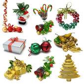 Vánoční předměty sampler — Stock fotografie