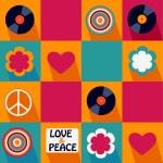 Color pop art musical pattern — Stock Vector #51489891