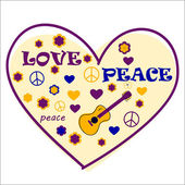 Love and peace — Stock Vector