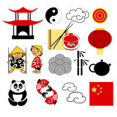 Set of china icons — Stock Vector